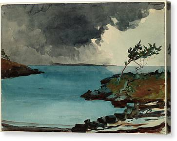 Winslow Homer, The Coming Storm, American Canvas Print by Quint Lox