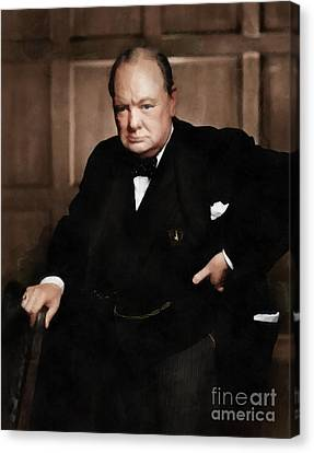 Prime Canvas Print - Winston Churchill by Vincent Monozlay