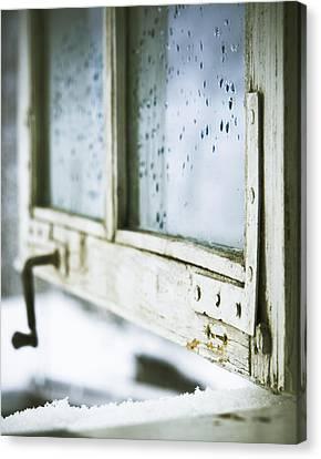 Wintage Wooden Window Closeup Canvas Print