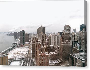 Fdr Canvas Print - Winter Afternoon - Above New York City by Vivienne Gucwa