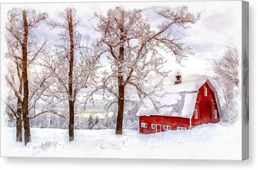 Parc Canvas Print - Winter Arrives Watercolor by Edward Fielding