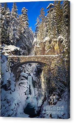 Winter At Christine Falls Canvas Print by Inge Johnsson