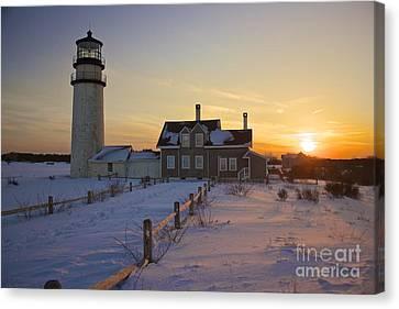 Winter At Highland Lighthouse Canvas Print