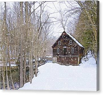 Winter At Kerrs Mill Canvas Print by Dave Sandt