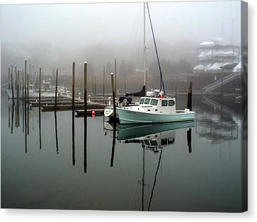 Winter At Sesuit Harbor Canvas Print