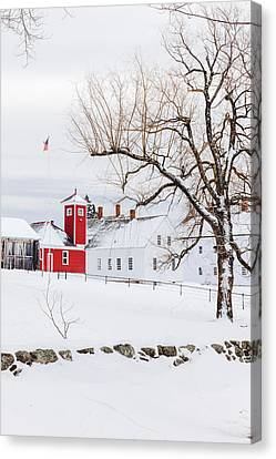 Canvas Print featuring the photograph Winter At Shaker Village by Robert Clifford
