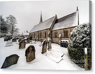 Winter At St Paul Canvas Print by Adrian Evans