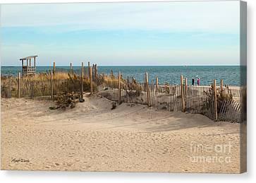 Winter At The Beach Canvas Print by Michelle Wiarda