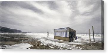 Winter At The Cabana Canvas Print by Scott Norris