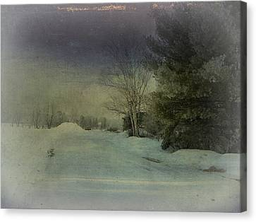 Winter Atmosphere  Canvas Print by Dianne  Lacourciere