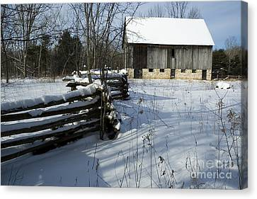 Canvas Print featuring the photograph Winter Barn I by Jessie Parker