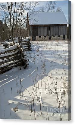 Winter Barn II Canvas Print