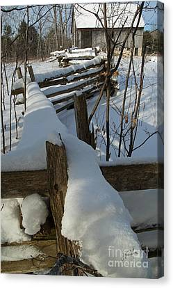 Canvas Print featuring the photograph Winter Barn IIi by Jessie Parker