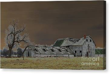 Winter Barns Canvas Print by Alys Caviness-Gober