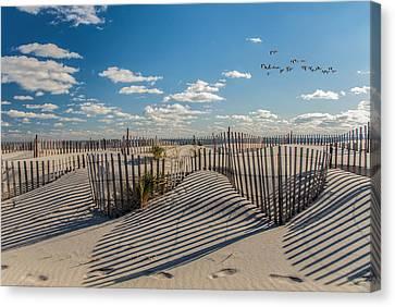 Winter Beach 9528 Canvas Print