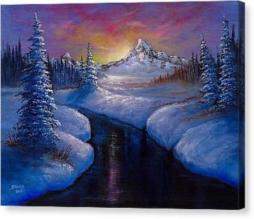 Winter Beauty Canvas Print by C Steele