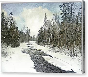 Winter Beauty  Canvas Print by Dianne  Lacourciere