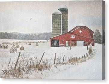 Winter Begins Canvas Print by Lori Deiter