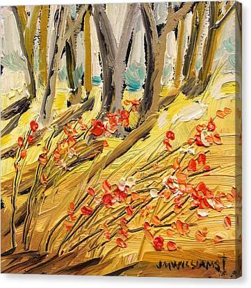 Winter Berries Canvas Print by John Williams