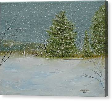 Canvas Print featuring the painting Winter Blanket by Judith Rhue