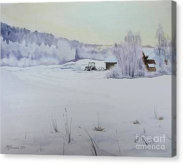 Winter Blanket Canvas Print by Martin Howard