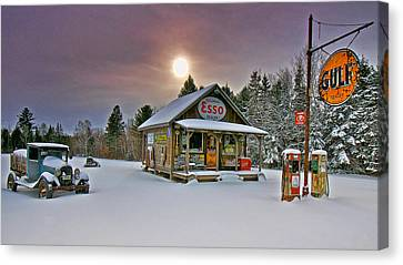 Winter Blast From The Past Canvas Print by Mark Silk