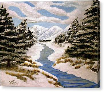 Canvas Print featuring the painting Winter Bliss by Sheri Keith