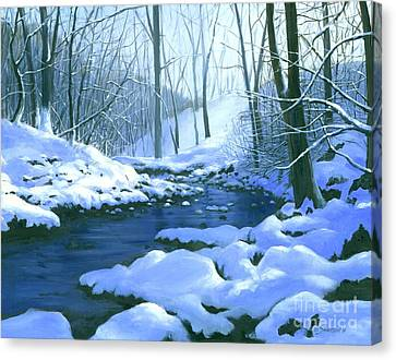 Canvas Print featuring the painting Winter Blues - Sold by Michael Swanson