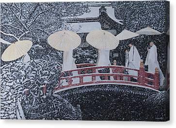 Winter Bridge Of Japan Canvas Print
