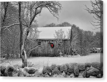 Winter Cabin Canvas Print by Tricia Marchlik