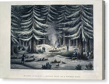 Winter Camp Canvas Print by British Library