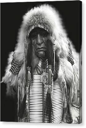 Winter Chief B W Canvas Print by Daniel Hagerman