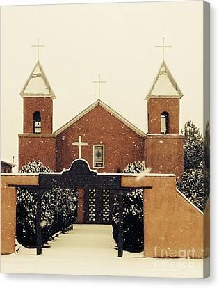 Winter Church Canvas Print