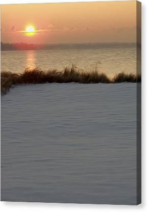 Canvas Print featuring the digital art Winter Coast by Kelvin Booker