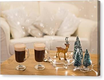 Winter Coffee Canvas Print by Amanda Elwell