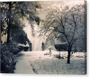 Winter Courtyard Canvas Print by Jessica Jenney
