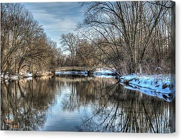 Winter Creek Canvas Print by Dan Crosby