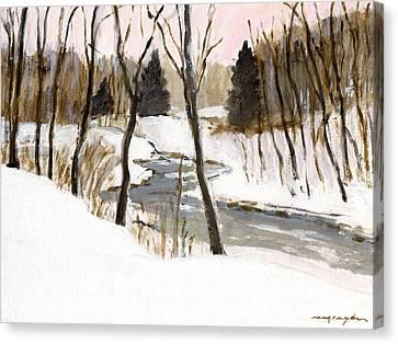 Winter Creek Canvas Print by J Reifsnyder