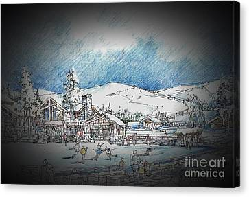 Winter Dance Canvas Print by Andrew Drozdowicz