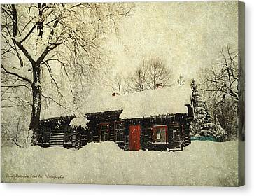 Winter Day At Countryside Canvas Print by Jenny Rainbow