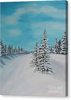 Winter Day In The Country Canvas Print by Barbara Griffin