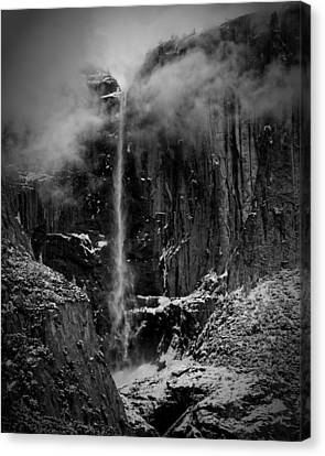 Winter Day Upper Yosemite Falls Ca Canvas Print by Troy Montemayor