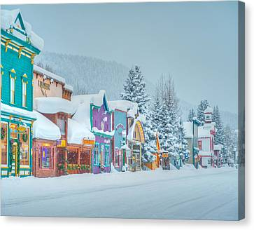 City Scape Canvas Print - Winter Daybreak - Crested Butte by Dusty Demerson
