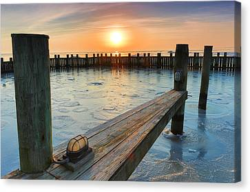 Winter Docks Canvas Print