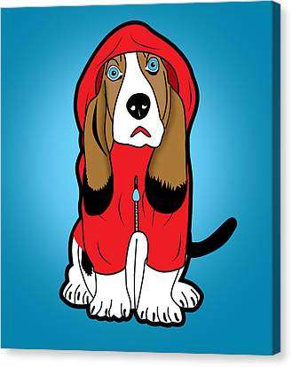 Winter Dog  Canvas Print by Mark Ashkenazi