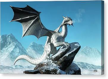 Winter Dragon Canvas Print by Daniel Eskridge
