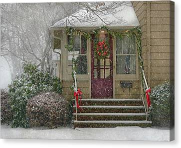 Winter - Dreaming Of A White Christmas Canvas Print by Mike Savad
