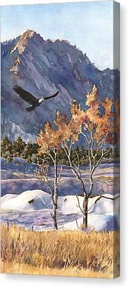 Fall Scenes Canvas Print - Winter Drift by Anne Gifford