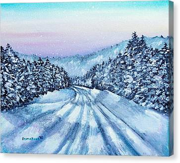 Winter Drive Canvas Print by Shana Rowe Jackson