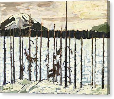 Winter Dusk Canvas Print